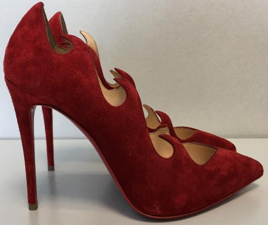 Christian Louboutin Heels Point Toe Olavague Flame Red Pumps Image 7
