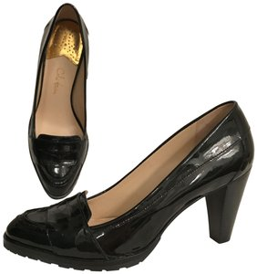 Cole Haan Patent Leather Leather Loafers Comfortable Nike Air Black Pumps