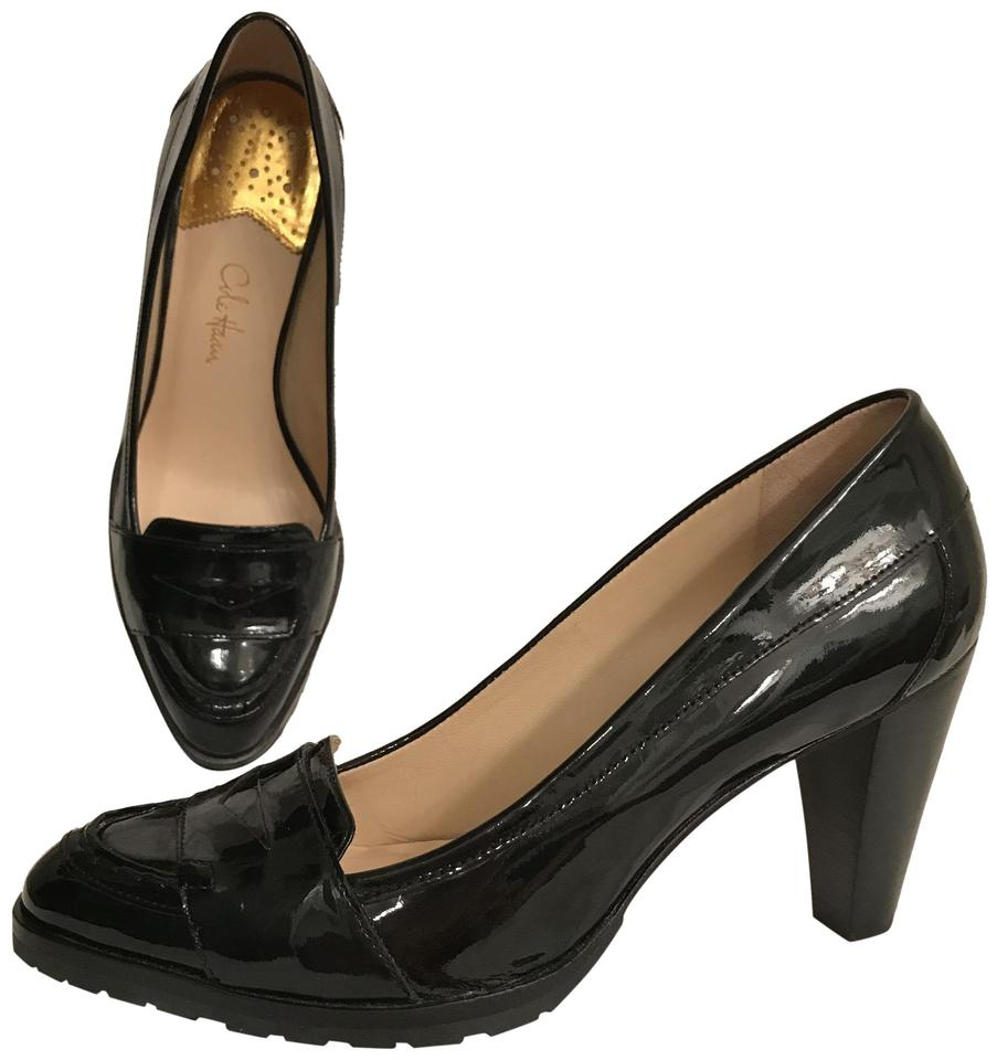 ecb1a4027f34 Cole Haan Black Patent Leather Loafer Style Comfortable Pumps Size ...