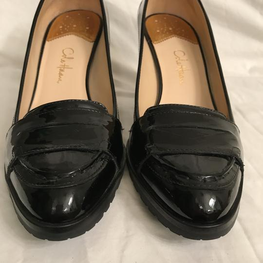Cole Haan Patent Leather Leather Loafers Comfortable Nike Air Black Pumps Image 3