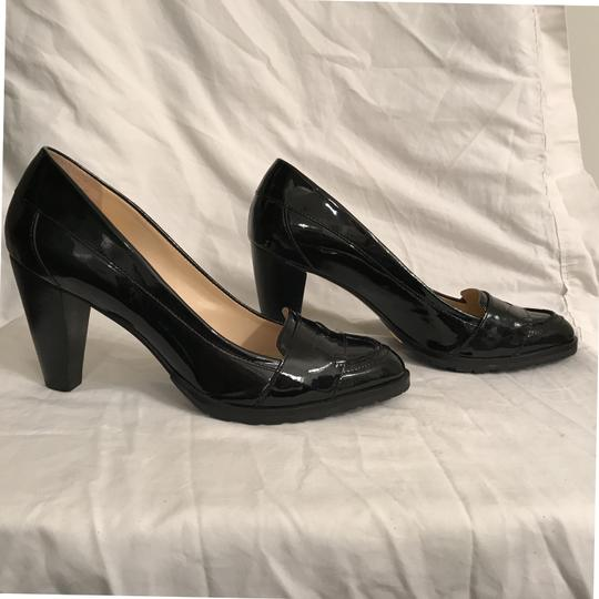 Cole Haan Patent Leather Leather Loafers Comfortable Nike Air Black Pumps Image 4