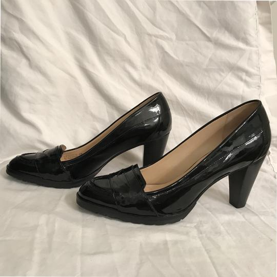 Cole Haan Patent Leather Leather Loafers Comfortable Nike Air Black Pumps Image 6