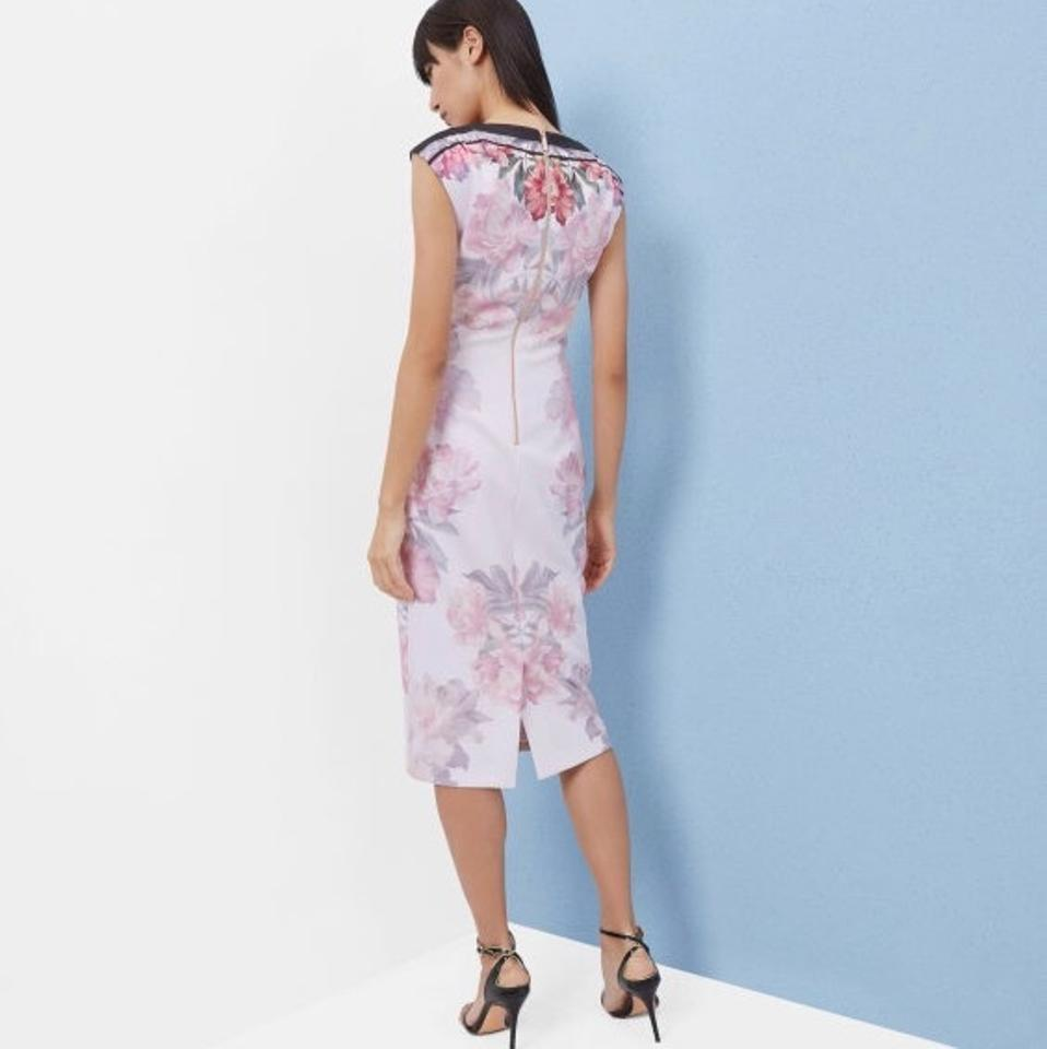 Ted Baker Shawnie Painted Posie Midi Mid-length Formal Dress Size 4 ...