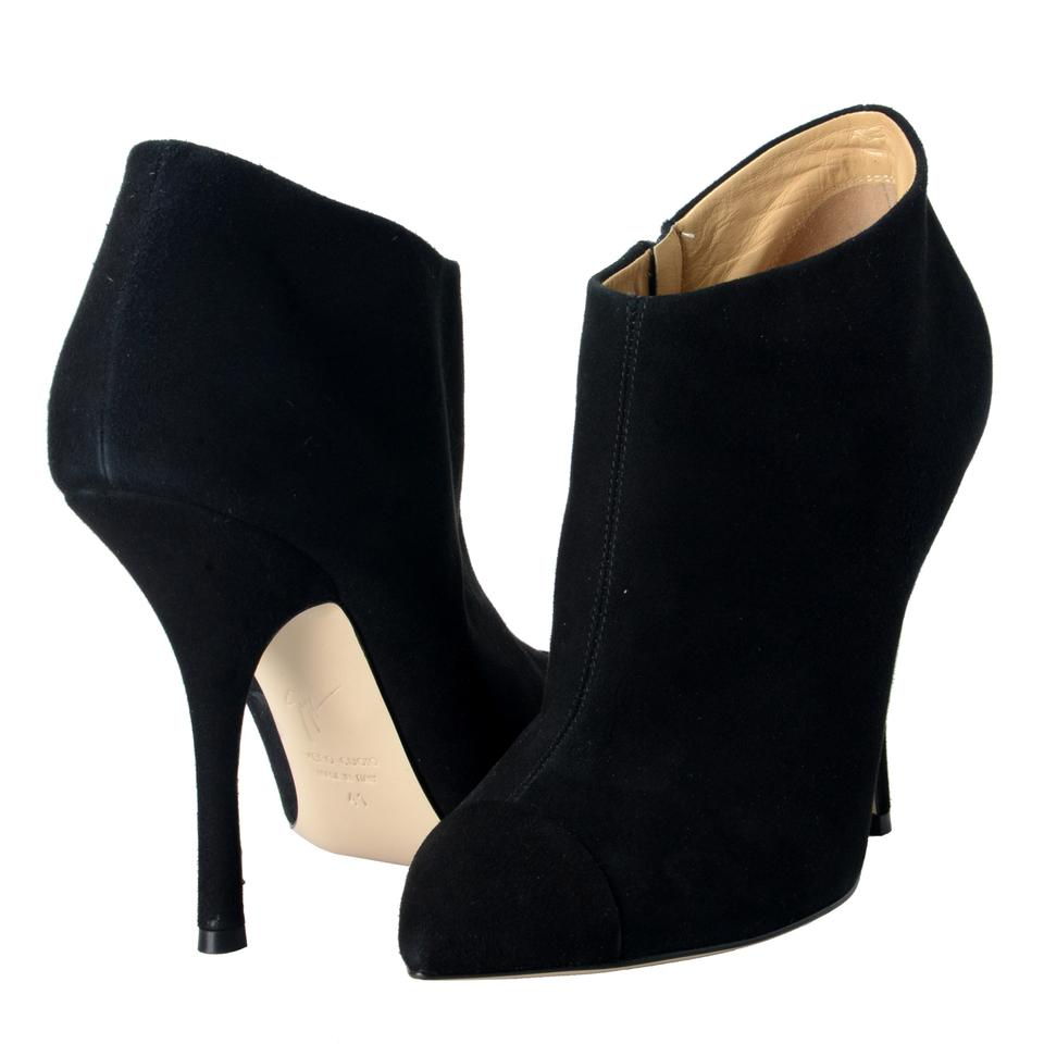 Giuseppe Zanotti Black Design Women s Suede Ankle High Heels Boots Booties a6d20810ae