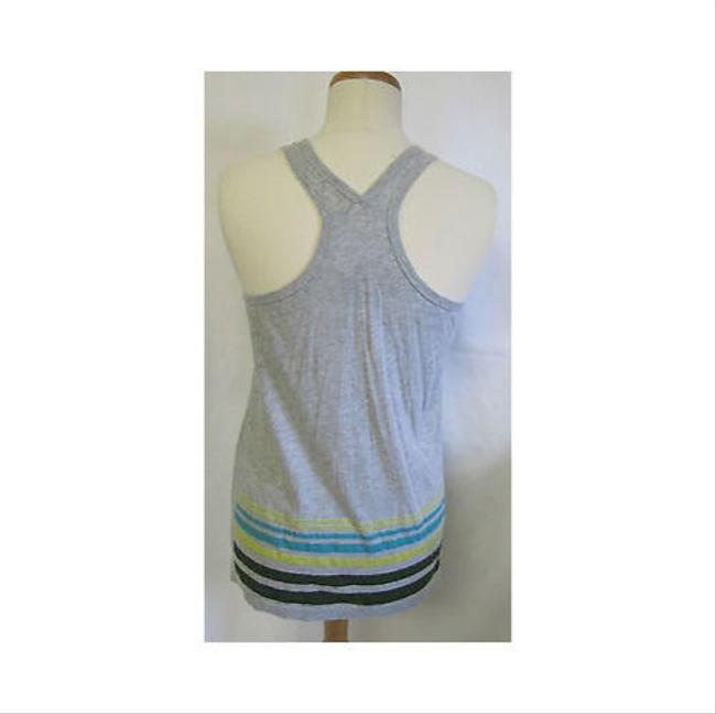 Other Womens Heart Breaker Striped Sleeveless Top Grays