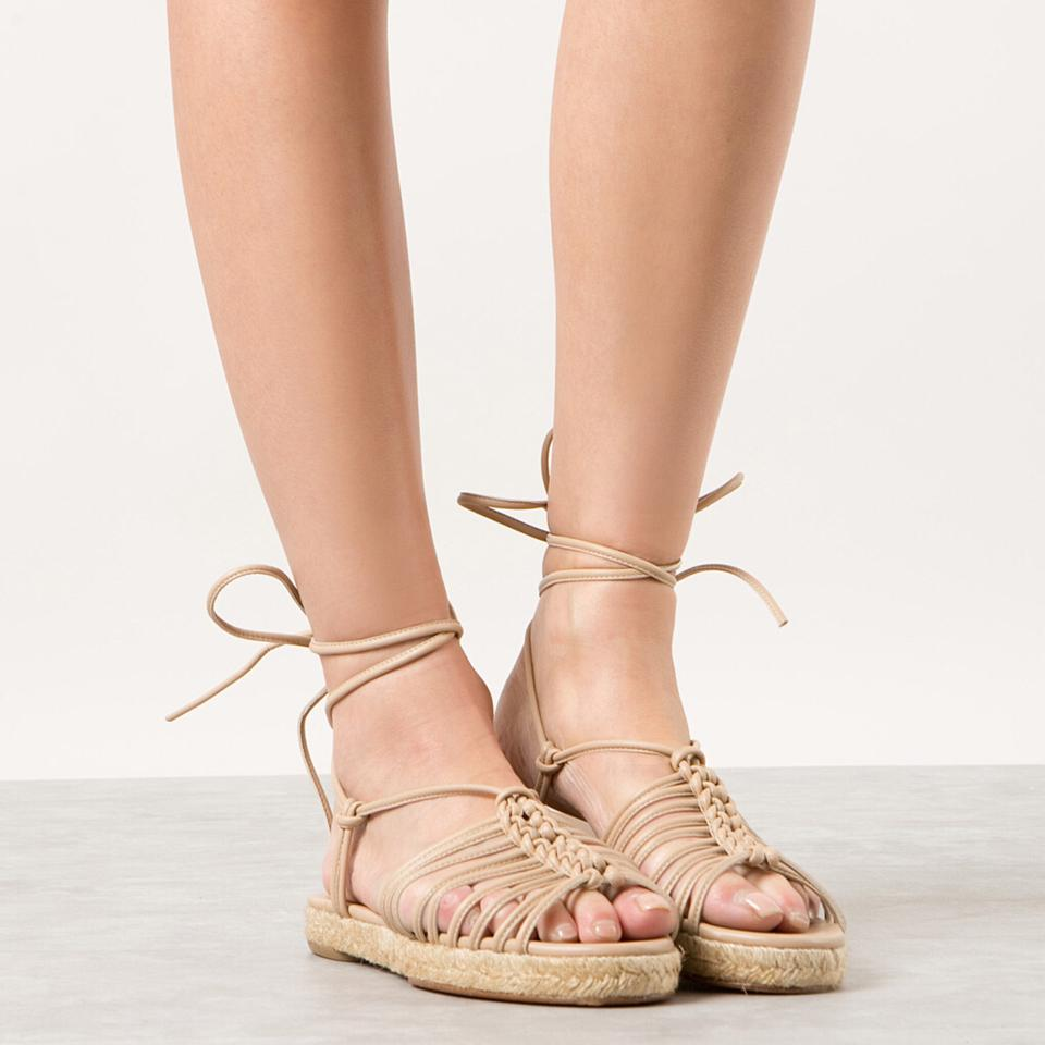 6243d2a454a Chloé Nude W New W/ Tag 2016 Spring Runway Leather Lace-up Espadrilles  Sandals Size EU 38 (Approx. US 8) Regular (M, B) 62% off retail