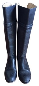 Frye Leather Tall Extended Size Black Boots