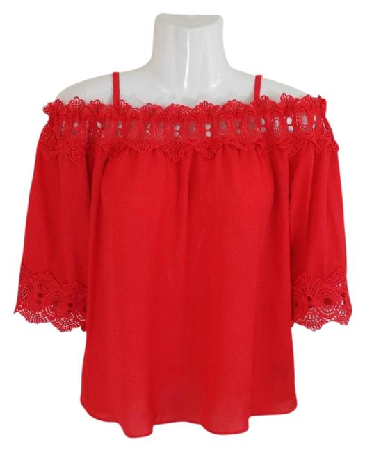 Preload https://img-static.tradesy.com/item/22305014/by-and-by-coral-34-sleeve-cold-shoulder-boho-flowy-crepe-eyelet-blouse-size-4-s-0-1-650-650.jpg