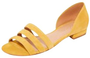 Madewell Suede Open Toe Straps Curry/Mustard Yellow Sandals