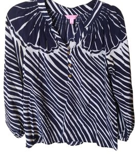Lilly Pulitzer Top navy and white