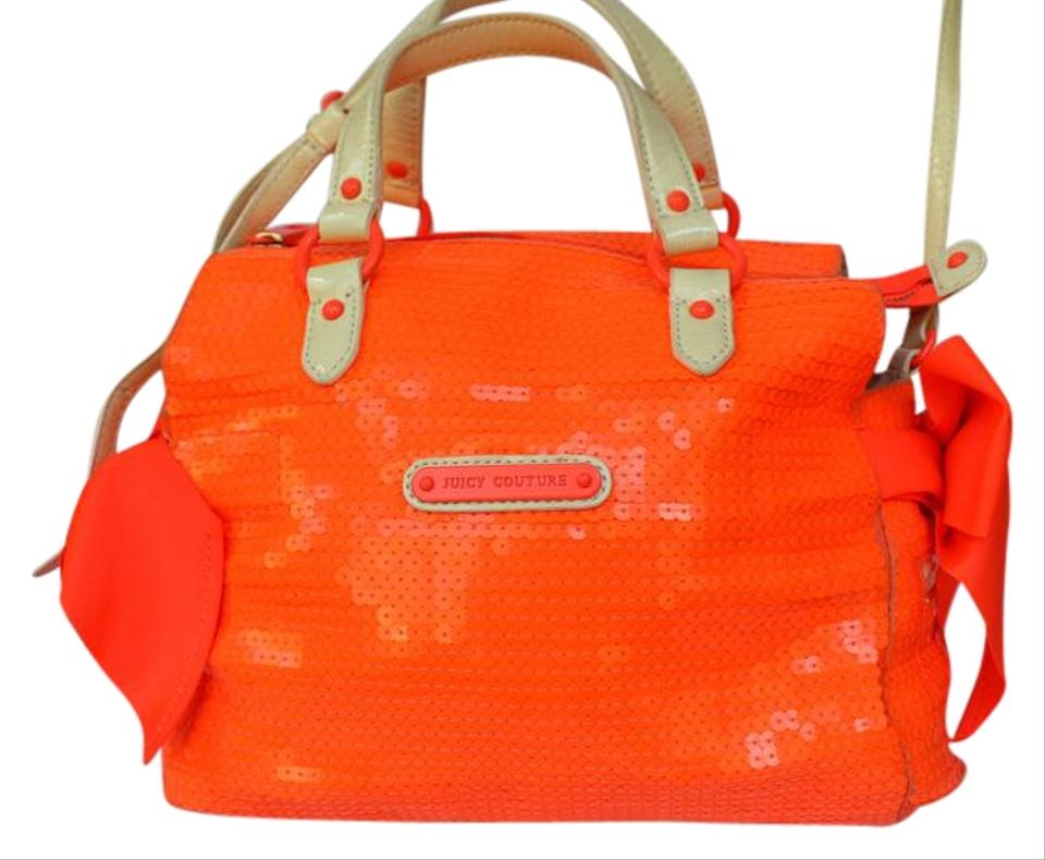 03978f096ee774 Juicy Couture Miss Daydreamer-sunshine Shim Neon Orange Sequins Tote ...