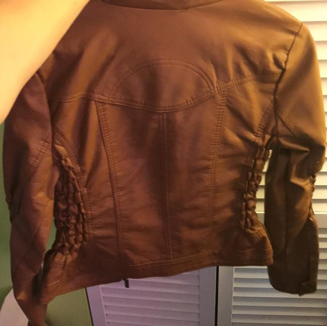 Charlotte Russe brown Leather Jacket