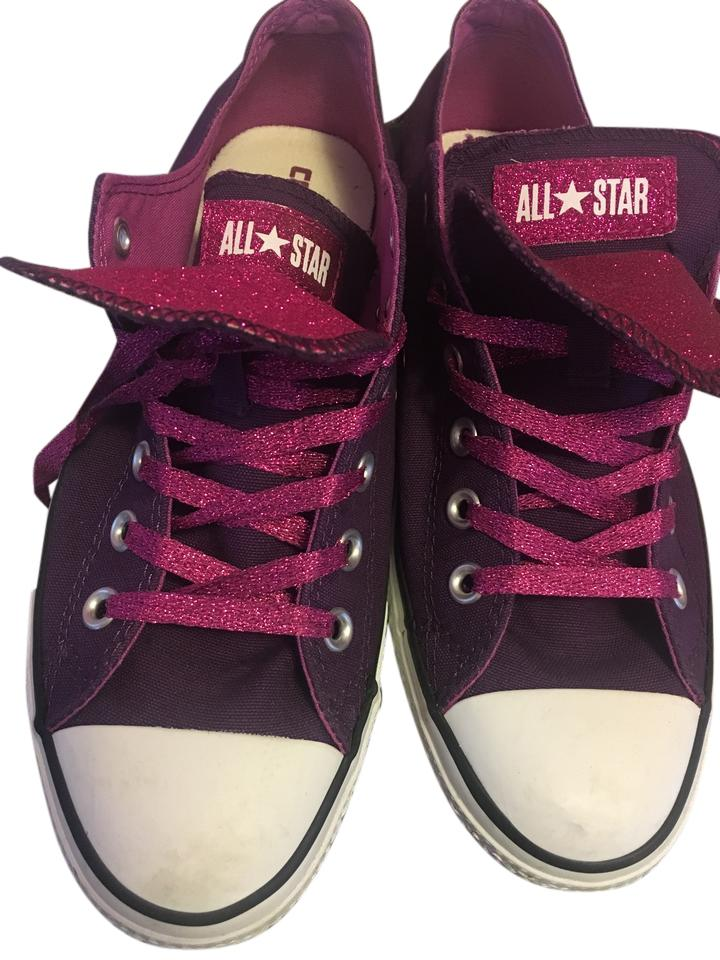 86accbbaee3a Converse Chuck Taylor Glitter Double Tongue Purple Athletic Image 0 ...
