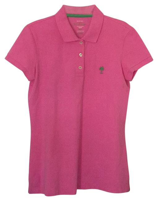 Preload https://img-static.tradesy.com/item/22305780/lilly-pulitzer-hotty-pink-island-polo-blouse-size-4-s-0-1-650-650.jpg