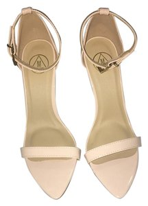Missguided Single Strap 6 Nude Sandals