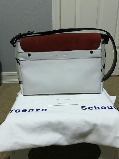 Proenza Schouler Leather Suede Patent Leather Croc Embossed Cross Body Bag