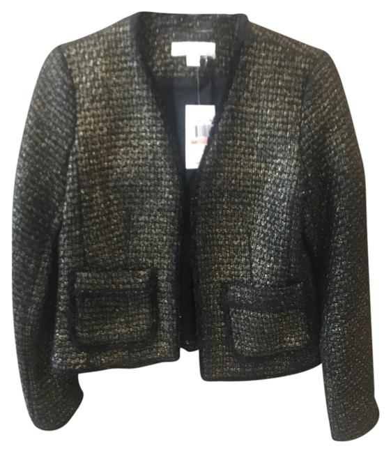 Preload https://img-static.tradesy.com/item/22305932/michael-michael-kors-black-and-gold-wool-tweed-blazer-size-2-xs-0-1-650-650.jpg