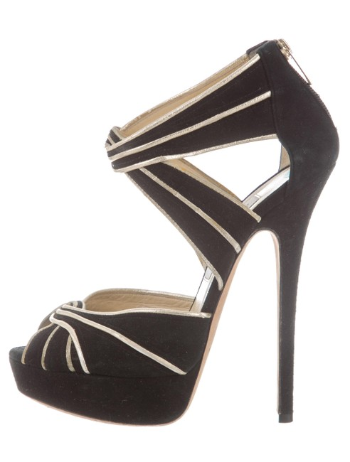 black and gold jimmy choo shoes