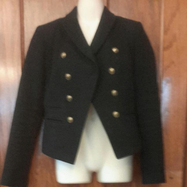 Banana Republic Military Jacket Cotton black Blazer