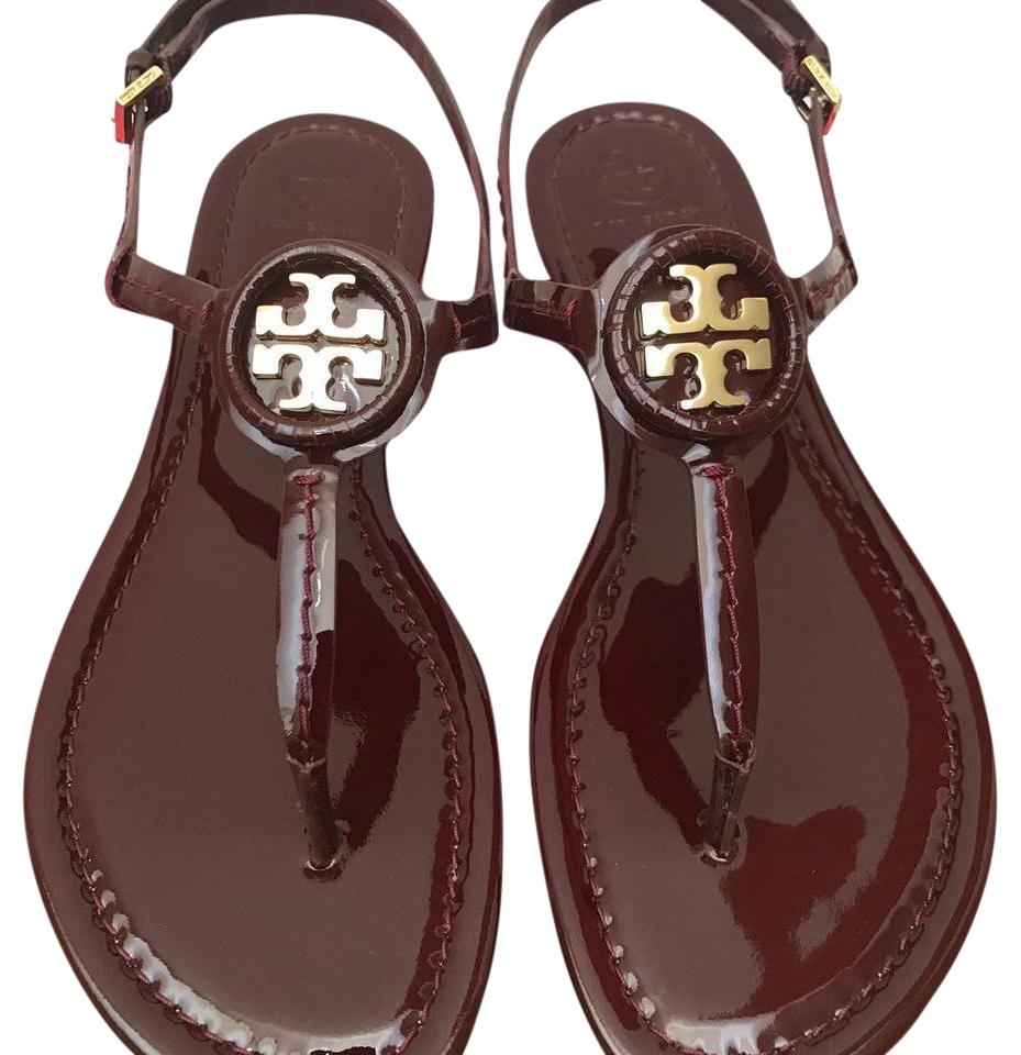 f2a88544c003 Tory Burch Oxblood   Dillan   Soft Patent Leather Sandals. Size  US 8 ...
