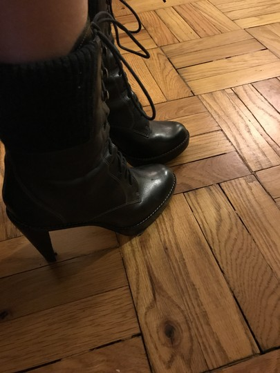 Cole Haan Laced Black Boots