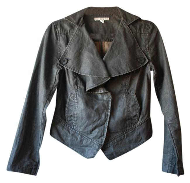 CAbi Moto Motorcycle Dark Grey/Waxed Linen Jacket