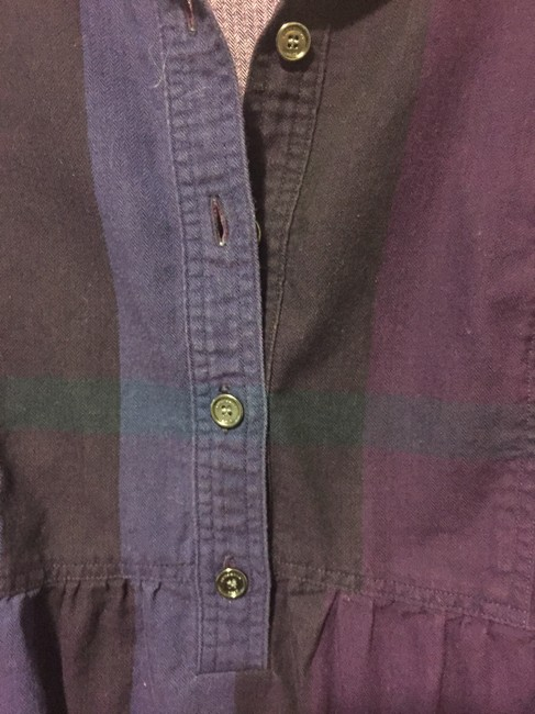 Burberry Brit Button Down Shirt Purple