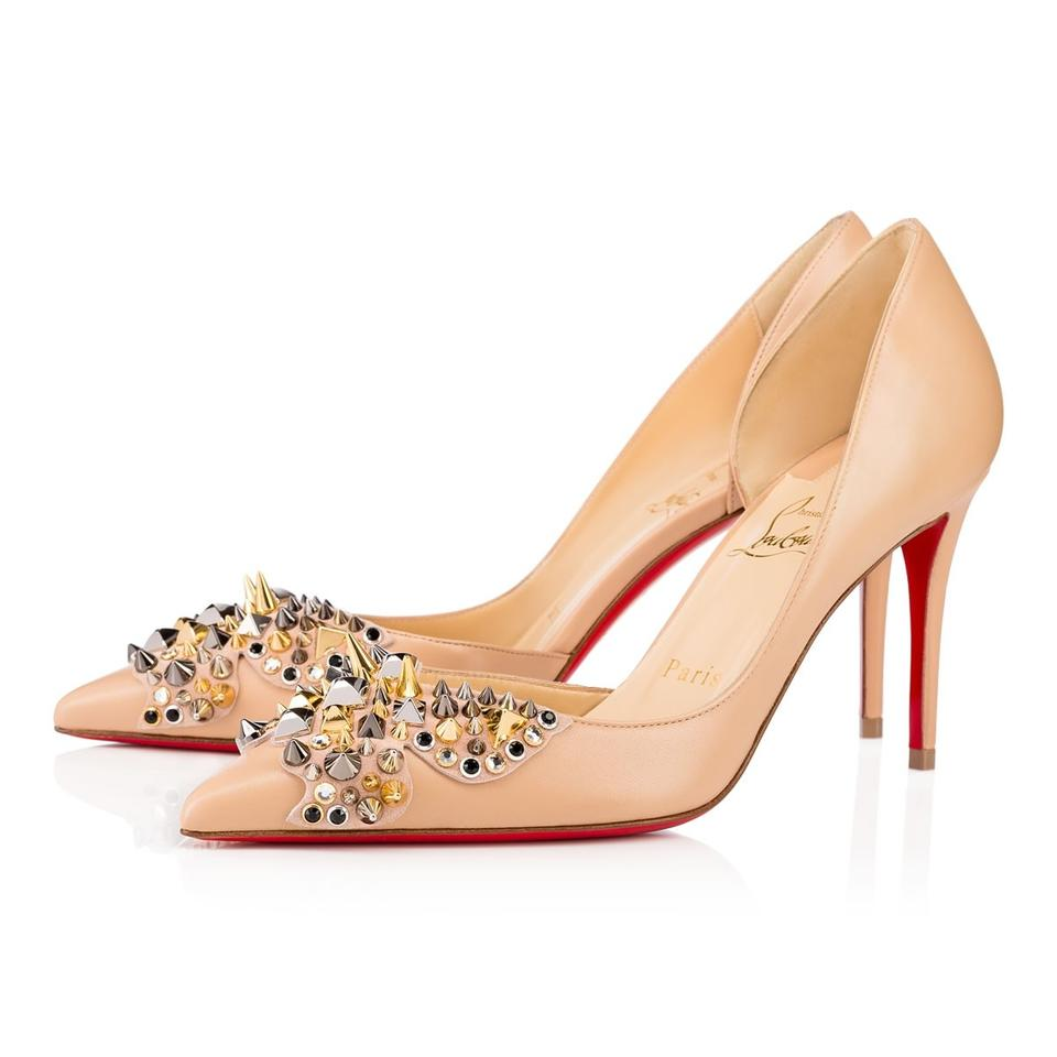 dfaf16a6bb1 Christian Louboutin Pointed Toe Butterfly Spike Nude Pumps Image 0 ...
