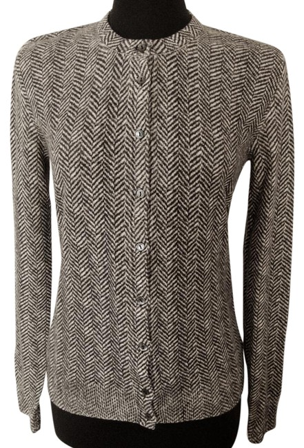 Preload https://img-static.tradesy.com/item/22306345/dolce-and-gabbana-gray-new-with-tags-cashmere-herringbone-cardigan-size-14-l-0-2-650-650.jpg