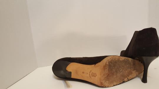 Isaac Mizrahi Leather Slip On Slide On Brown Suede Boots