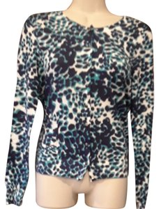 Banana Republic Animal Print Sweater Cotton Cardigan