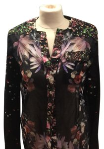 Givenchy Button Down Shirt Black Multi Colored