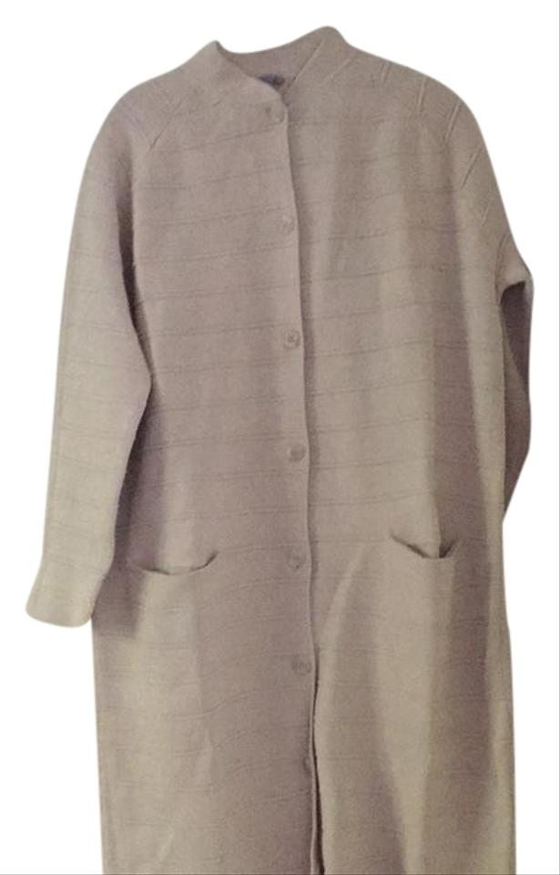 7533389825cae COS Beige Long Knit Coat Cardigan Size 6 (S) - Tradesy