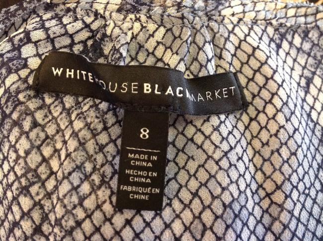 White House | Black Market Night Out Longsleeve Size M Top Blue print