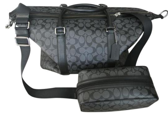 Preload https://img-static.tradesy.com/item/22306662/coach-men-s-voyager-sport-signature-duffle-and-matching-charcoal-black-coated-canvas-weekendtravel-b-0-2-540-540.jpg