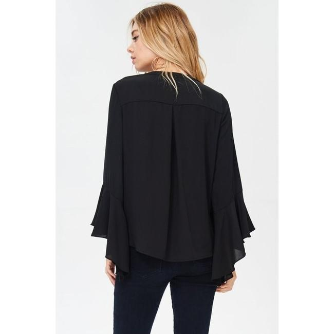 Jodifl Fall Trendy Holiday Winter Party Top Black