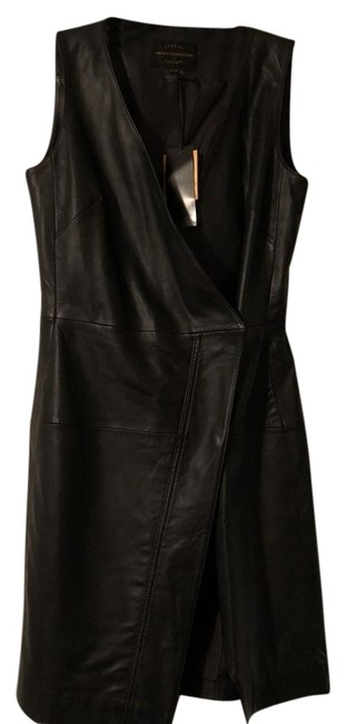 Preload https://img-static.tradesy.com/item/22306720/french-connection-black-leather-short-cocktail-dress-size-4-s-0-1-650-650.jpg