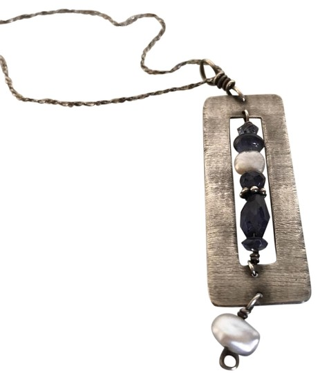 Preload https://img-static.tradesy.com/item/22306765/silver-and-purple-custom-necklace-0-1-540-540.jpg