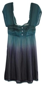 Betsey Johnson Short Sleeve Vintage Baby Doll Ombre Silk Dress