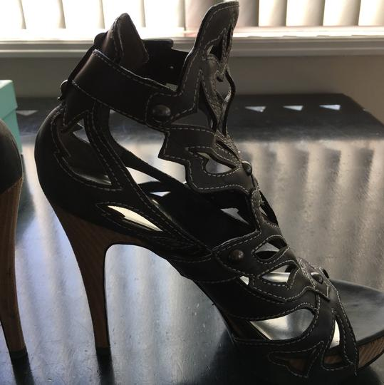 Guess By Marciano black leather (charcoal) Platforms