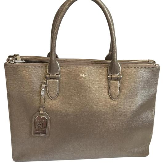 Preload https://img-static.tradesy.com/item/22306937/ralph-lauren-newbury-tote-silver-leather-satchel-0-2-540-540.jpg