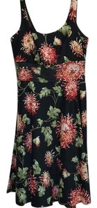 Donna Ricco Floral Print Cotton Sleeveless Lined Dress