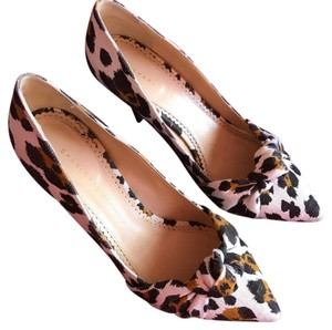 Charlotte Olympia brown, black, and white Pumps