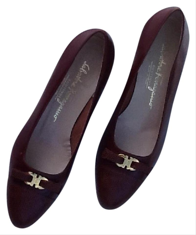 salvatore ferragamo brown pumps pumps on sale. Black Bedroom Furniture Sets. Home Design Ideas