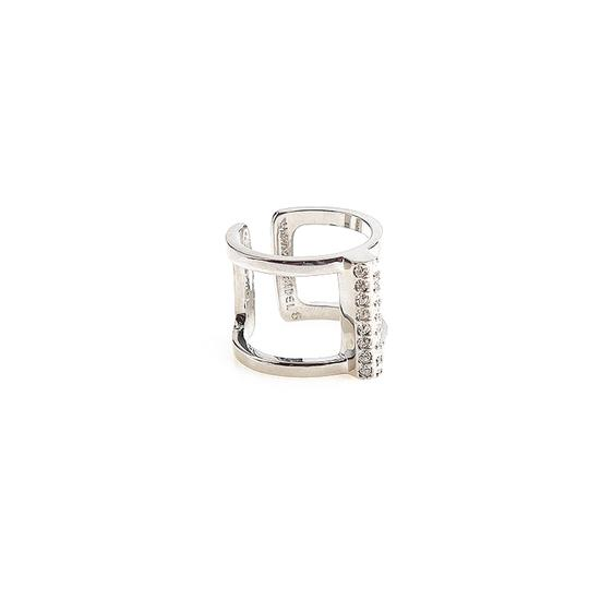 Preload https://img-static.tradesy.com/item/22307127/henri-bendel-silver-new-luxe-pave-deco-barl-size-ring-0-0-540-540.jpg