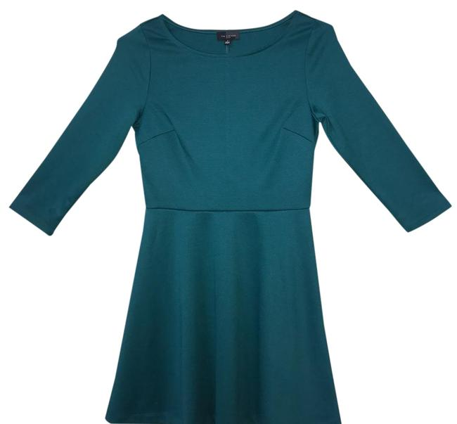 Item - Green Fit and Flare Short Work/Office Dress Size 2 (XS)