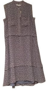 gray with cream vine pattern Maxi Dress by Madewell