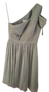 J.Crew Dusty Shale Silk Chiffon Cara Formal Bridesmaid/Mob Dress Size 4 (S)