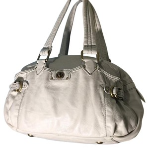 Marc by Marc Jacobs Satchel in White with dark blue