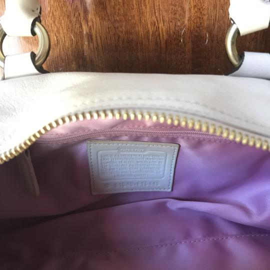 Coach Leather Satchel in Ivory